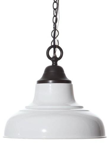 Warm Design Metal Emaye Lamba Beyaz